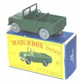Matchbox Lesney Grey Wheels Army LAND ROVER