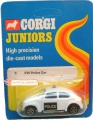 Corgi 1973 Mettoy Juniors Whizzwheels VW POLICE CAR
