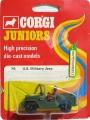 Corgi Juniors 1973 Army U.S. MILITARY JEEP
