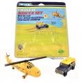 ERTL Coastal Rescue Set RAF HELICOPTER & LANDROVER