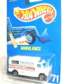 Hot Wheels 1992 AMBULANCE