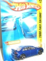 Hot Wheels 2008 FE LANCER EVOLUTION (blue)