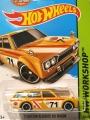 Hot Wheels 2013 Yellow 1971 DATSUN BLUEBIRD 510 WAGON