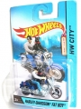 Hot Wheels 2014 HARLEY-DAVIDSON FAT BOY With RIDER & DOG