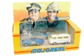 Majorette Mini Set Police FURY PLYMOUTH VW COMBI T2 & HELICOPTER