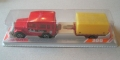 Majorette No. 277 Rally Red TOYOTA LAND CRUISER with Trailer