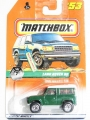 Matchbox 1997 Mexico Card LAND ROVER 90