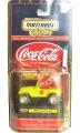 Matchbox 1998 Coca-Cola YELLOW JEEP WRANGLER