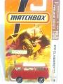 Matchbox 2008 Red VOLKSWAGEN T2 BUS