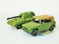 Matchbox Lesney 1969 FIELD CAR & 1976  ROLA-MATICS TANK