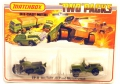 Matchbox Superfast TP-11 Military Army JEEP and MOTORCYCLE